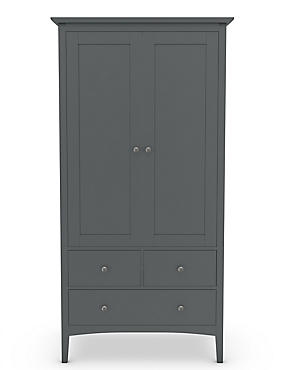 Hastings Double Wardrobe Dark Grey