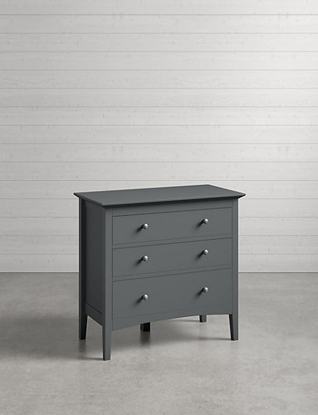 Hastings Dark Grey 3 Drawer Chest