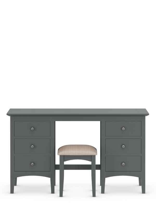 Hastings Dressing Table Stool Dark Grey