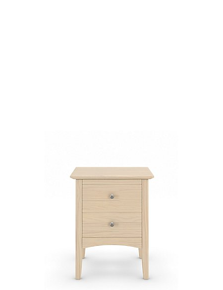 Hastings Bedside Table Soft White