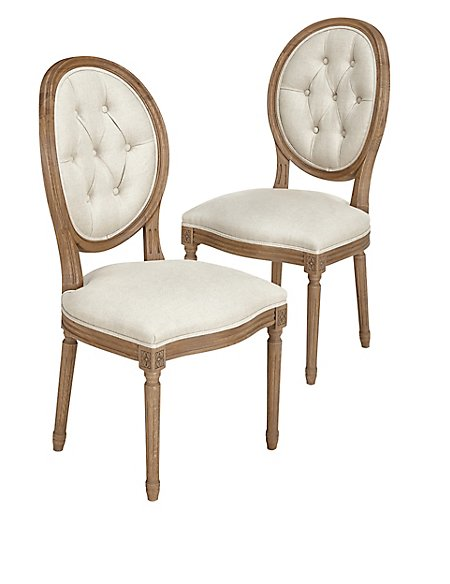 Darcey Button Back Dining Chair X2