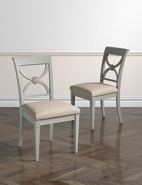 Set of 2 Darcey Painted Dining Chairs
