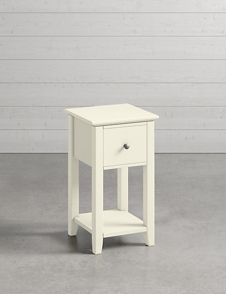Set of 2 Hastings Ivory Compact Bedside Tables