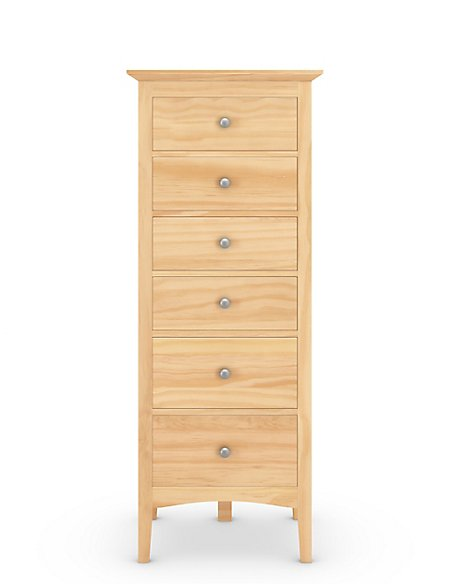 Hastings Light Natural 6 Drawer Tallboy