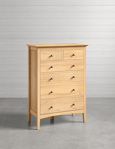 Hastings Light Natural 6 Drawer Chest