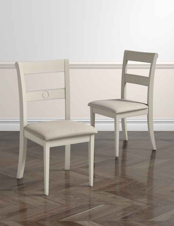 Set Of 2 Albany Dining Chairs Fabric