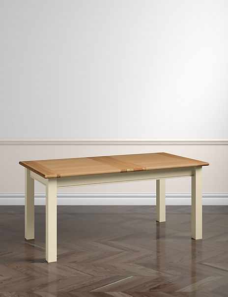 Padstow Extended Dining Table Cream
