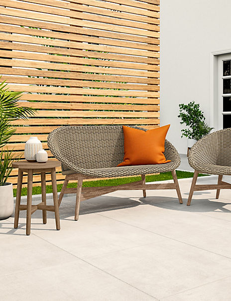 Capri Teak Garden Sofa
