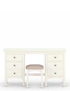Hastings Ivory Dressing Table & Stool Set