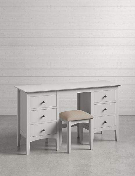Hastings Grey Dressing Table & Stool Set