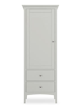 Hastings Grey Single Wardrobe