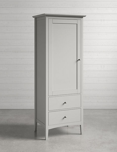 Hastings Grey Single Wardrobe