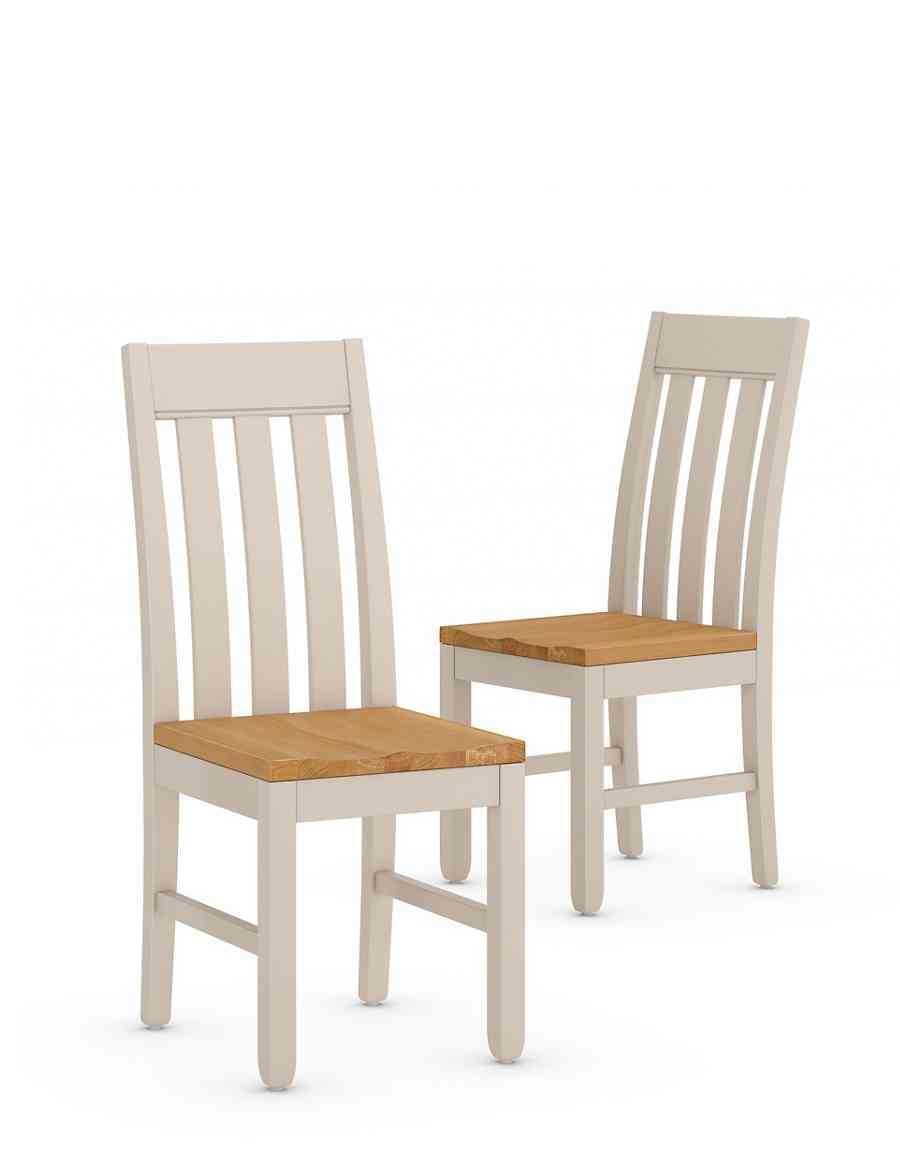 Set of 2 padstow slat back dining chairs