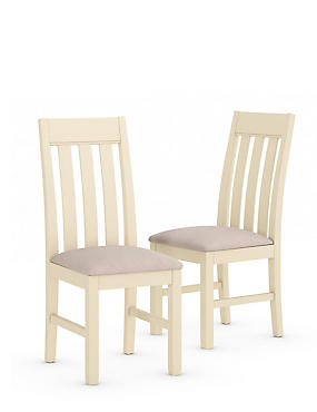 Set of 2 Padstow Fabric Dining Chairs