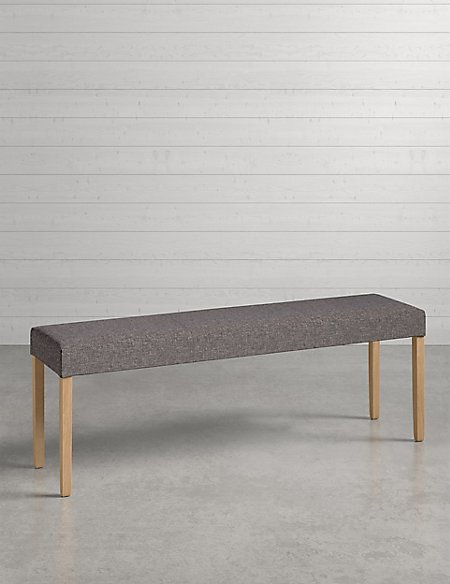 Alton Grey Fabric Bench