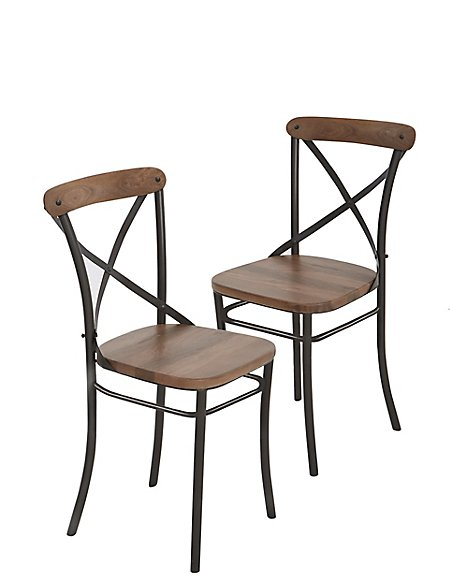 Set of 2 Sanford Parquet Dining Chairs