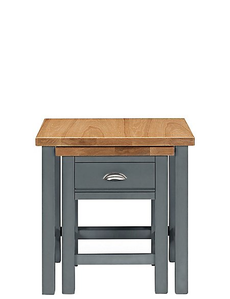 Padstow Nest of Tables Grey