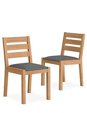 Set of 2 Sonoma™ Blonde Grey Dining Chairs
