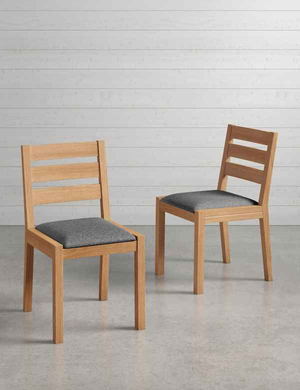 Set Of 2 SonomaTM Blonde Grey Dining Chairs