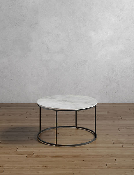 Farley Marble Round Coffee Table