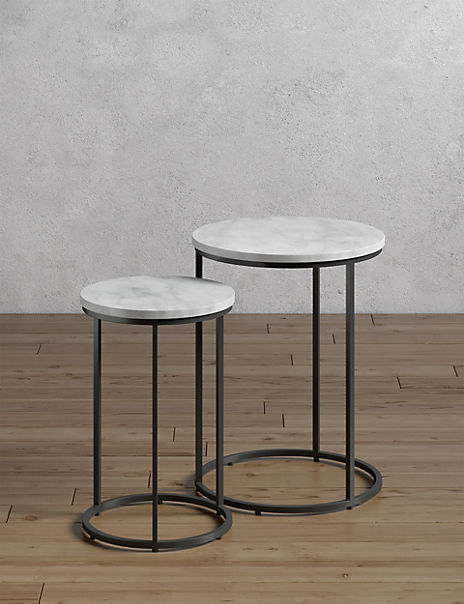 Farley Marble Round Nest of Tables