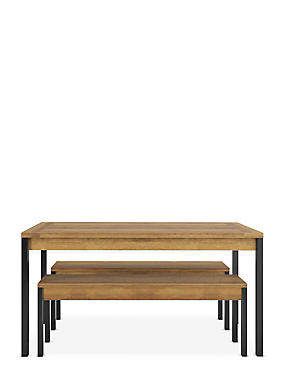 Baltimore Dining Table & 2 Benches