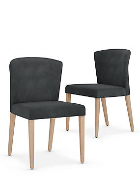 Set of 2 Curved Back Dining Chairs