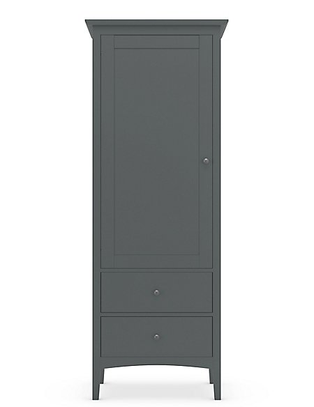 Hastings Single Wardrobe Dark Grey