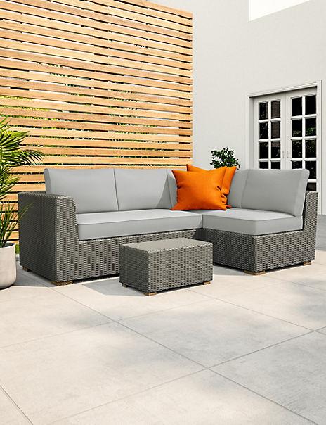 Marlow Grey Garden Corner Sofa