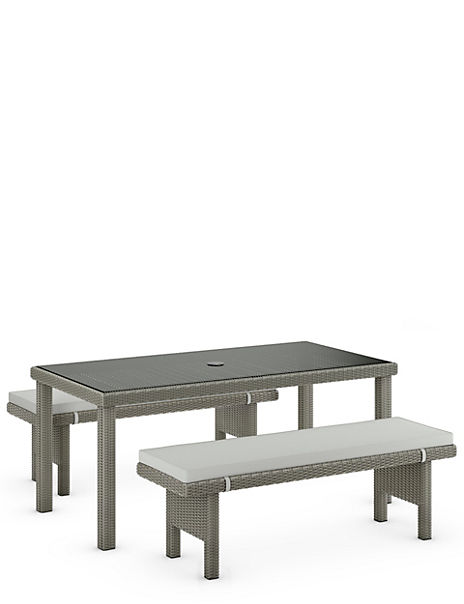 Marlow Large Table & Bench Set