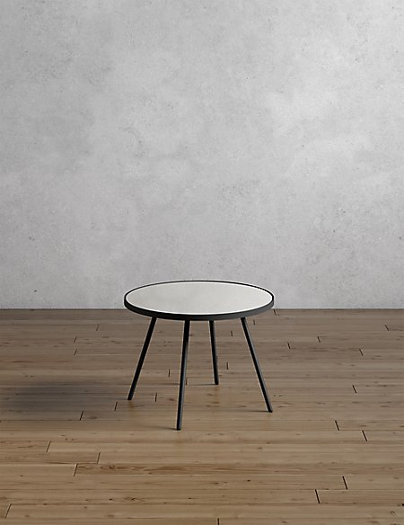 Round Metal & Glass Coffee Table