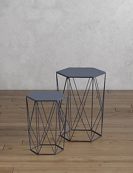 Wire Nest of Tables Navy