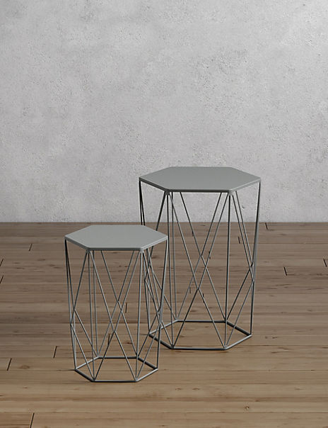 Wire Nest of Tables Grey