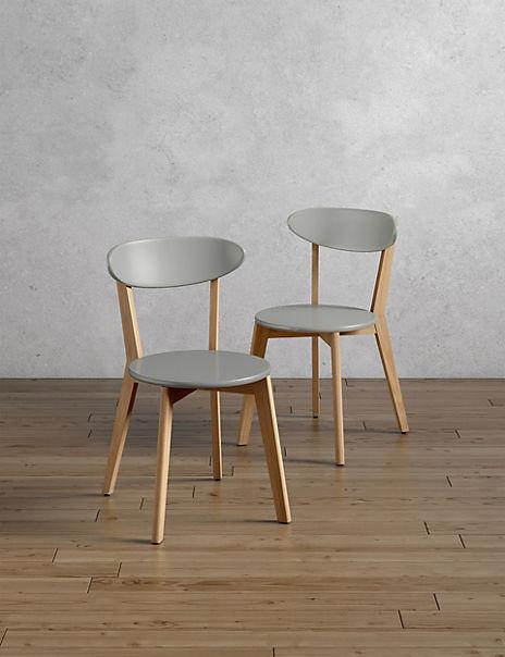 Set of 2 Bradshaw Chairs Grey