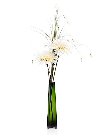 Artificial Chrysanthemums in Vase