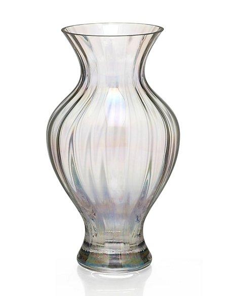 Large Optic Pearl Luste Effect Vase Ms