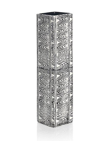 Tribal Zig Zag Design Vase