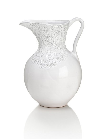 Lace Design Jug Vase