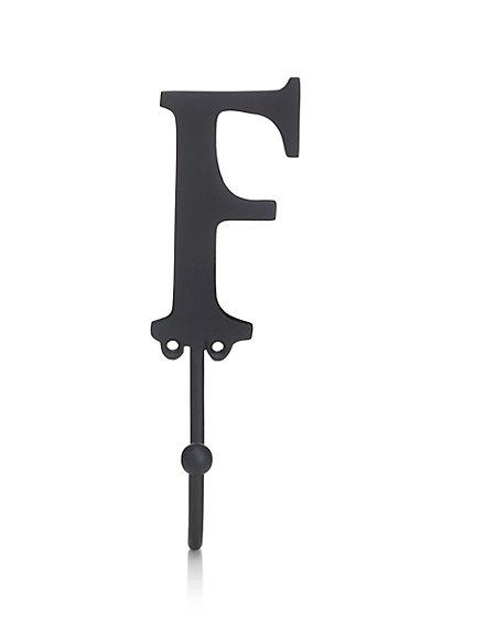 Alphabet F Door Hook