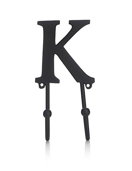 Alphabet K Door Hook