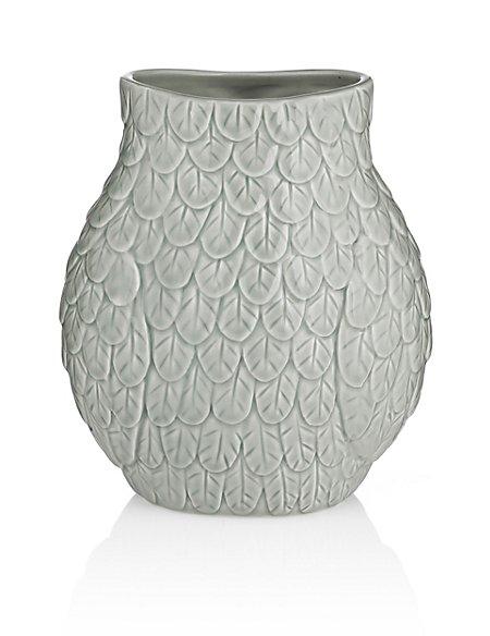 Ceramic Owl Vase Ms