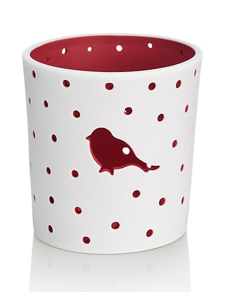 Robin Ceramic Tealight Holder
