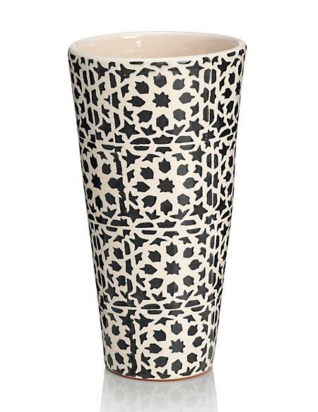 Tile Print Vase