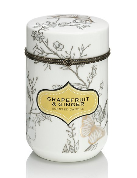 Grapefruit & Ginger Ceramic Scented Candle