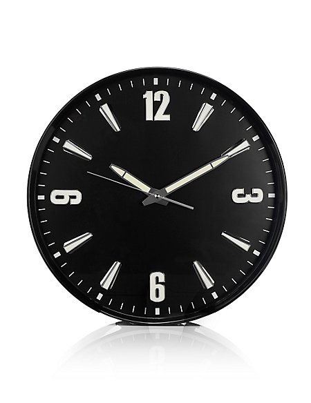 Large Glow In The Dark Wall Clock M Amp S