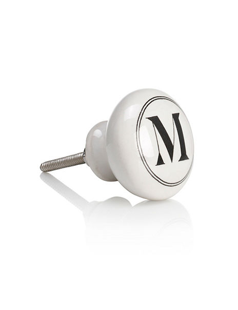 Alphabet M Drawer Pull
