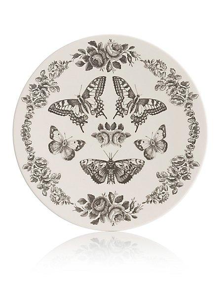 Butterfly Decal Platter
