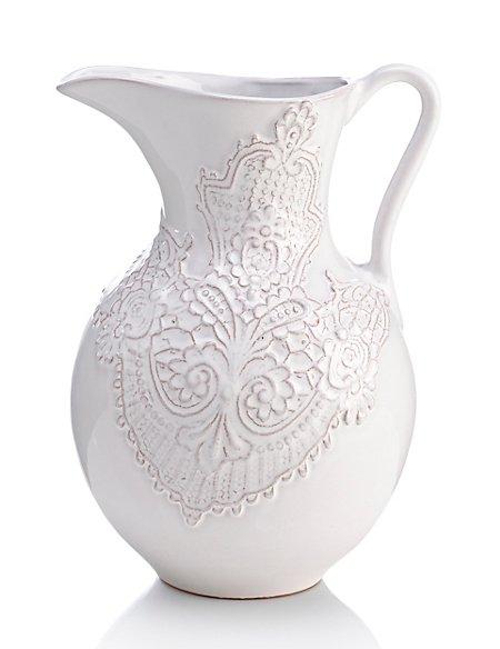 Olivia Lace Jug Vase