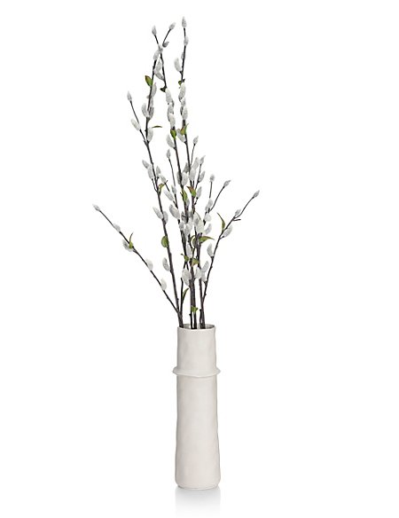 Artifical Pussy Willow In Large Ceramic Vase Ms