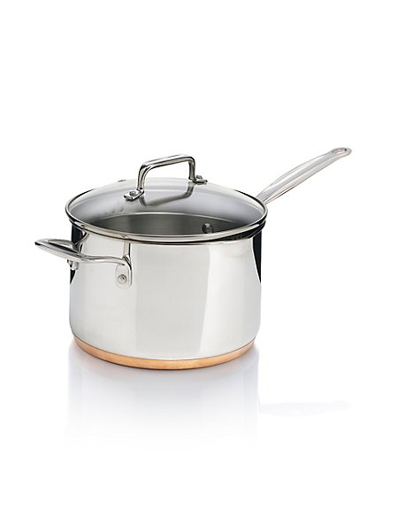 20cm Stainless Steel Copper Base Saucepan